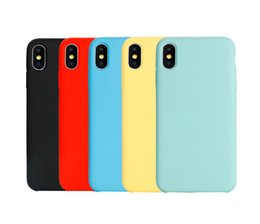 Wholesaler For Back Iphone Color Australia - Pure Phone Case For iPhone Simple Solid Color Ultrathin Soft TPU Cases Candy Color Back Cover