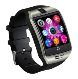bluetooth smart watch sim Australia - Hot Selling Android Cellphones Watch Q18 Touch Screen Bluetooth Smartwatch Smartwatches Support SIM Card Camera Answera Call Smart Bracelets