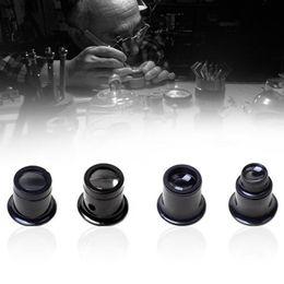 Loupe 5x Australia - 4pcs set Portable 20X 15X 10X 5X Monocular Magnifying Glass Loupe Lens Jeweler Watch Magnifier Tool Eye Magnifier Len Repair Kit