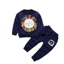 $enCountryForm.capitalKeyWord Australia - Children Boys Girls Clothes Kids Cartoon Lion T-shirt Pants 2 Pcs Sets 2019 Toddler Tracksuits Baby Spring Autumn Suits