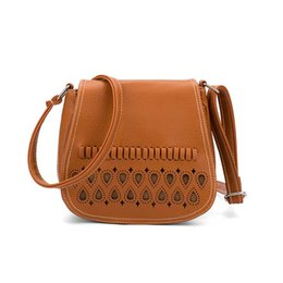 Discount cross bags for girls - New Small Women Shoulder Messenger Bag Female Pu Leather Crossbody Bags for Girl Mini Hollow Out Saddle Ladies Purse and