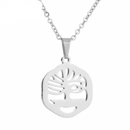 $enCountryForm.capitalKeyWord Australia - Hfarich Simple Tree Pendant Necklace Stainless Steel Sweater Chain for Women and Girls Friendship Jewelry Gift