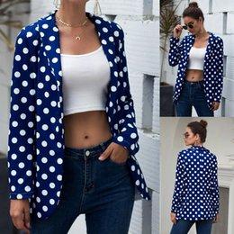 $enCountryForm.capitalKeyWord Australia - Spring Women Casual Office Suits Jacket Daily Retro Dot Print Blazer Long Sleeve Jacket Lady Office Wear Feminine Outwear Coat#D
