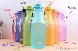 $enCountryForm.capitalKeyWord Australia - 9 Color Soda Bottle Leak-proof Outdoor Sports Water Seal Soda Bottles Eco-friendly Plastic Cola Water Bottles Readily Cup 120PCS