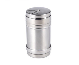 $enCountryForm.capitalKeyWord UK - 100pcs lot Stainless steel shaker Pepper Salt Bottles Condiment Container Kitchen tool Seasoning container SN2789