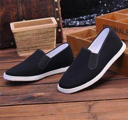 28c18b6c0adb4 Men s Handmade Layered Bottom Shoes Casual old Beijing Breathable shoes  Bruce Lee Retro Chunchun Tai Chi Slippers Martial Arts Cotton