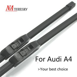 a4 b5 Canada - NATURESKY Wiper Blades for A4 B5   B6   B7 B8 B9 Hook Latch Slider Push Button Arms Model Year from 1995 - 2018