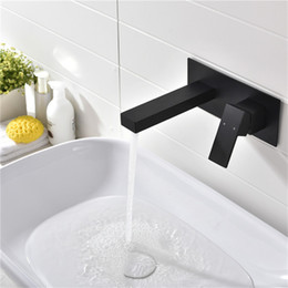 Single lever tapS online shopping - Laconic Brass Bathroom Basin Sink Mixer Faucet Embedded Single Lever Black Chrome Hot and Cold Mixing Lavatory Tap