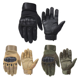 Discount army gloves - 1 Pair Motorcycle Gloves Breathable Unisex Full Finger Glove Fashionable Outdoor Racing Sport Glove Motocross Protective
