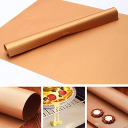 High Heat Coating Australia - 3pcs set Copper Chef BBQ Grill Bake Nonstick Baking High Temperature Outdoor Barbecue Grill Mat and Bake Mats Cooking Tools
