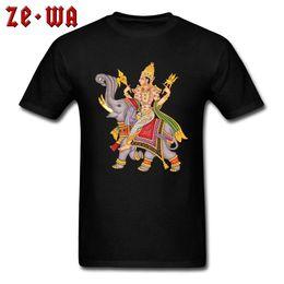 $enCountryForm.capitalKeyWord Australia - Unique Tshirt Designer Men T Shirts Shiva Deity Hinduism T-Shirt Elephant God Printed On Male Clothing Cotton Healthy Top Tees