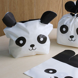 $enCountryForm.capitalKeyWord Australia - Cheap Gift Bags & Wrapping Supplies 20Pcs lot Cute Panda Biscuit Bag Cartoon Plastic Bag Candy Cookie Food Cake Bags Box Gift Packaging