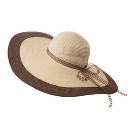 $enCountryForm.capitalKeyWord Australia - Hot 2019 Fashion Women Beach Hats For Women Summer Straw Hat Beach Cap Sun Hats Sexy Ladies UV Protect Floppy Brim Hat