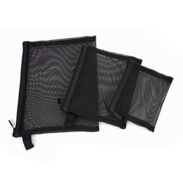 Wholesale Pillow Packs Australia - HCH-Zipper Mesh Bags, Pack of 3 (S M L), Beauty Makeup Cosmetic Accessories Organizer, Travel Toiletry Kit Set Storage Pouch,