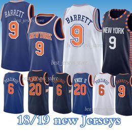 Real Gifts RJ Barrett 9 New York Knicks Jersey Mens Student Sportswear Jerseys Mens Sports t-Shirts