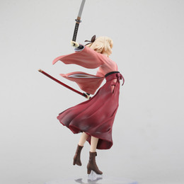 Fate Stay Night Saber Figure Australia - NEW hot 18cm Fate stay night Saber Okita Souji The Holy Grail War Fate zero Saber action figure toys