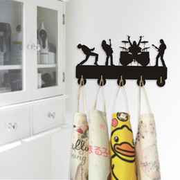 Band Clothes For Australia - 1Piece Rock Band Door Hook Wall Docor Rock Music Clothes Coat Hat Hanger Kitchen Bathroom Towel Hooks Key Holder Gift For Singer