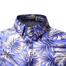 $enCountryForm.capitalKeyWord Australia - Luxury Summer Floral Print Short Sleeve Shirts Men Tops Green Gold Hawaiian Shirt Chemise Homme Manche Court Camiseta Hombre 20