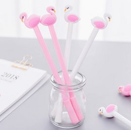 Stationery Australia - Korean Stationery Flamingo Pens Needle Pens 0.5mm Kids Prize Creative Gifts For Children Shool Supplies