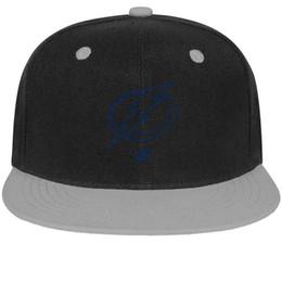 Cotton Bay Australia - Tampa Bay Lightning blue Unisex Men's Caps Women Hat Designed Cotton Snapback Flatbrim Workout Hats Ball Cap for Women
