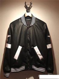 $enCountryForm.capitalKeyWord Australia - 2019 fashion Brand Motorcycle Leather Jackets buttons stripe Men Leather Clothing Men Leather Jackets2018 brand fashion luxury designer