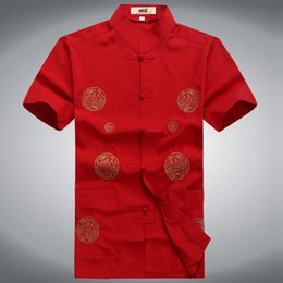 Chinese Traditional Shirts For Men Australia - chinese style suit traditional clothing kung fu suits for men cotton cheongsam shirt oriental mens male top clothes tangzhuang