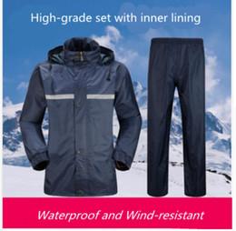 Discount bicycle for suits - Raincoat suit Women Rain Pants Men Riding Bicycles Rainwear Suit Waterproof Rainwear poncho for rain motorcycle waterpro