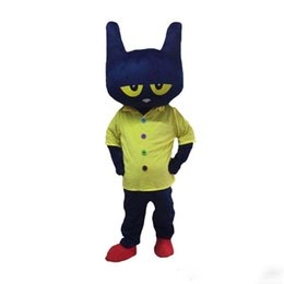 $enCountryForm.capitalKeyWord Australia - 2019 hot sale Pete the Cat Mascot Costume Adult Size Halloween Cat Cartoon Costume Fancy Party Dress