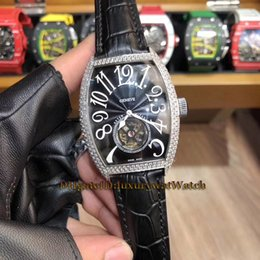 $enCountryForm.capitalKeyWord Australia - Luxry GRAND COMPLICATIONS GIGA TOURBILLON 8889 T G DF VIN D8 FM D Silver Diamond Case Automatic Mens Watch Black Dial Leather Watches