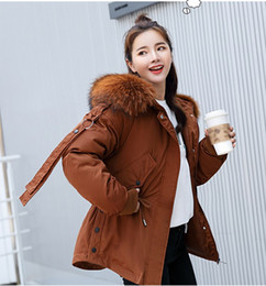 Women Winter Parka Australia - 2018 Winter Women Casual Cotton-padded Jacket Coat Fashion Fur Collar Coat Women Jacket Solid Womens Parka Outerwear