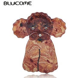 $enCountryForm.capitalKeyWord UK - lucome Lovely Brown Toy Poodle Dog Shape Brooch Animal Pattern Acrylic Jewelry For Lady Women Corsage Pins Brooches Accessories Blucome L...