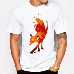 $enCountryForm.capitalKeyWord Australia - Tshirt Men 2016 New Creative Painted Fox T-shirt Short Sleeve Brand Clothing Tops Hipster Fashion O-neck T Shirt Men Q190425