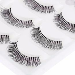 Packed False Eyelashes Wholesale Australia - 5 Pairs pack Natural Sparse Cross Eye Lashes Extension Makeup Long False Eyelashes Fashion