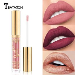 $enCountryForm.capitalKeyWord Australia - Waterproof Long Lasting Sexy Cosmetics Lime Moisturizing Red Velvet Matte Liquid Lipstick Makeup Lip Gloss Cosmetic Lip 16 colors