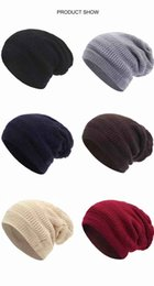 $enCountryForm.capitalKeyWord UK - Hats and Scarf in One Leisure European and American Fashion Beanie Street Knitted Caps Men and Women Hat Scarf New in Winter