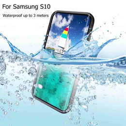 Waterproof Hard Cases NZ - 20pcs For Samsung Galaxy S10 Redpepper Waterproof IP68 Underwater 3m Life Water Proof Shockproof Hard Waterproof Case For Samsung S10 Plus