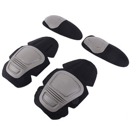 $enCountryForm.capitalKeyWord Australia - New Tactical Knee and Elbow Protector Pad For Paintball Airsoft Combat Uniform Military Suit, 2 knee pads & 2 elbow pads Set #515435