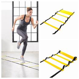 5 Seção 10 Metros Agility Ladder Football Escada de Corda Salto velocidade Pace Formação Ladder Futebol Outdoor Training Equipment LJJZ496 em Promoção