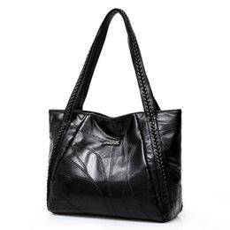 0d0ee0794 Women Tote Bag Genuine Sheepskin Patchwork Casual Hand Bags Big Capacity  Woman Shoulder Bag Large Ladies Shopping Bags 2019