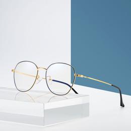 Read Top Australia - 2019 new blue blocking glasses retro metal frame anti-blue glasses computer glasses top quality reading goggles flat mirror free shipping