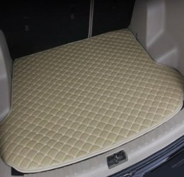 Livraison gratuite 2008-2019Years BMW X6 voiture anti-dérapant tapis de coffre en cuir imperméable Tapis de voiture tapis de coffre plat Pad en Solde