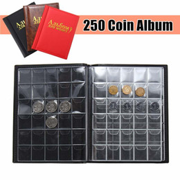 coin holder books Australia - 250 Coins Holder Collection Storage Collection Holders Storage Penny Pockets Money Album Book Case three color