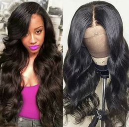 Longest Hair NZ - Long Body Wave Full Lace Human Hair Wig Free Part With Baby Hair Virgin Brazilian Lace Front Wigs For Black Women Bleached Knots