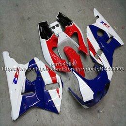 Fairing 1987 Australia - Custom+Screws ABS red blue Fairing For Honda VFR400R NC30 V4 1987 1988 motorcycle panels