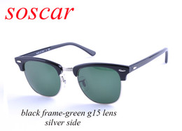 Wholesale white half top for women for sale – plus size Soscar Brand Designer Sunglasses for Men Women Sport Semi Rimless Plank Frame Glass Lens Club Sunglasses mm Top Quality gafas de sol mujer