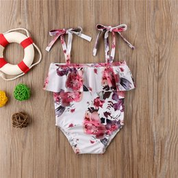 swimming belts NZ - 2019 New Summer Baby Girls Belt Swimwear Bikini One Piece Swimsuit Floral Children Cute Swim Beachwear Bathing Kids Girls Costume