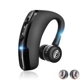 Discount phone control car - V9 Handsfree Business Wireless Bluetooth Headset With Mic Voice Control Headphone For Drive Connect With 2 Phone car