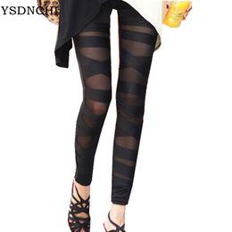 9166c8b31b1f5e wholesale 2018 Fashion New Leggings Black Lace Cheap Ripped Cut-out Bandage  Woman Lady Legging Trousers Girl Sexy Pant