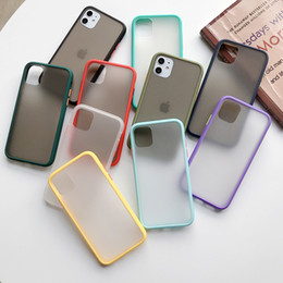 iphone x phone case 2020 - Mint Hybrid Simple Matte Bumper Phone Case for Iphone 11 Case Pro Max Xr Xs 6s 8 7 Plus Shockproof Soft Tpu Silicone Cle