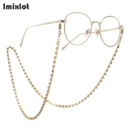 eyeglasses chains Australia - Gold Silver Color Vintage Rhinestone Eyeglass Chain Reading Glasses Spectacles Sunglasses Holder Neck Cord Metal Strap Chain